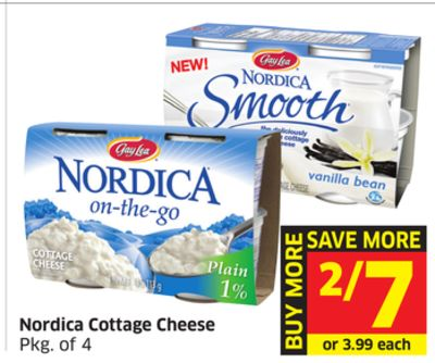 Nordica Cottage Cheese Pkg of 4