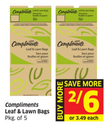 Compliments Leaf & Lawn Bags Pkg of 5