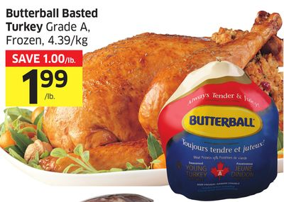 Butterball Basted Turkey Grade A - Frozen - 4.39/kg