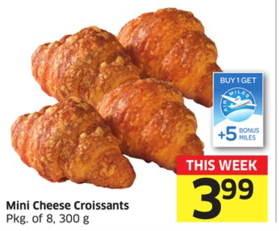 Mini Cheese Croissants Pkg of 8 - 300 g - 5 Air Miles Bonus Miles