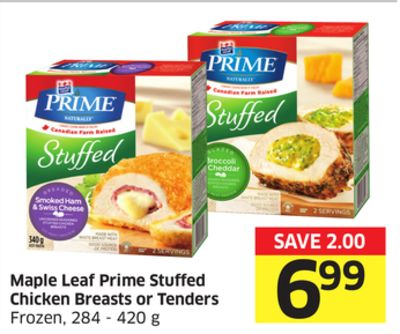 Maple Leaf Prime Stuffed Chicken Breasts or Tenders Frozen - 284 - 420 g