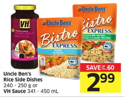 Uncle Ben's Rice Side Dishes 240 - 250 g or VH Sauce 341 - 450 mL