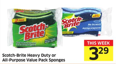 Scotch-brite Heavy Duty or All-purpose Value Pack Sponges