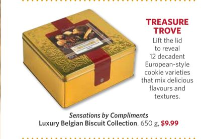 Sensations By Compliments Luxury Belgian Biscuit Collection - 650 g