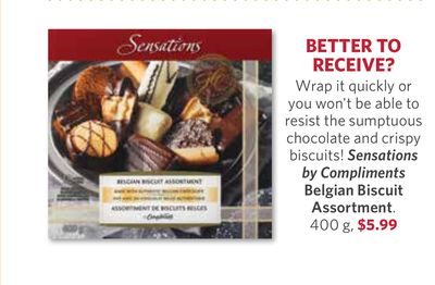 Sensations By Compliments Belgian Biscuit Assortment - 400 g