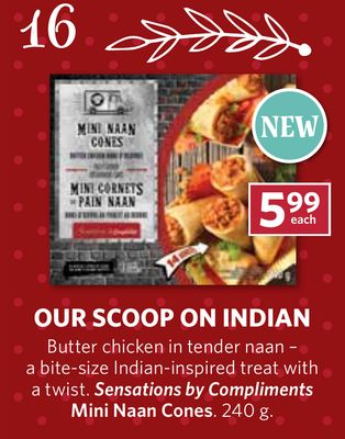 Sensations By Compliments Mini Naan Cones - 240 g