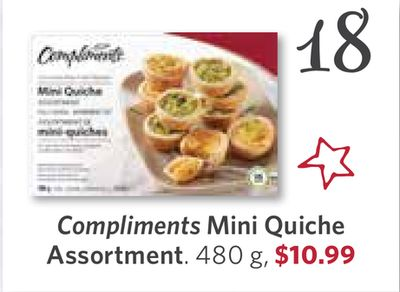 Compliments Mini Quiche Assortment - 480 g