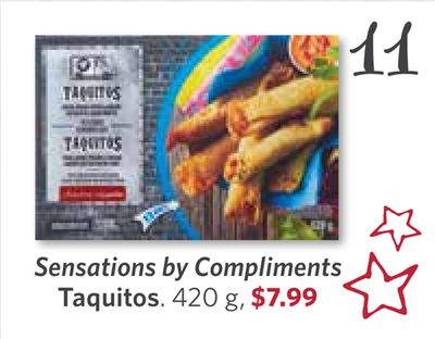 Sensations By Compliments Taquitos - 420 g