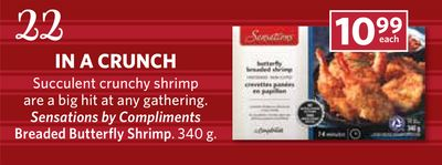 Sensations By Compliments Breaded Butterfly Shrimp - 340 g