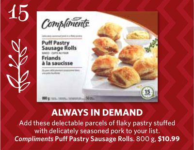 Compliments Puff Pastry Sausage Rolls - 800 g