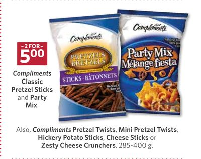 Compliments Classic Pretzel Sticks and Party Mix - 285-400 g