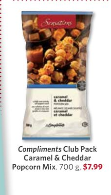 Compliments Club Pack Caramel & Cheddar Popcorn Mix - 700 g