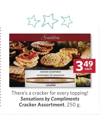 Sensations By Compliments Cracker Assortment - 250 g