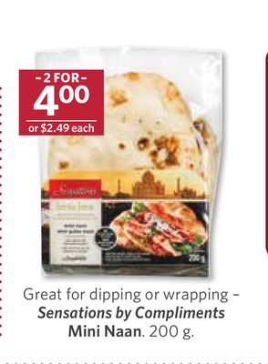 Great For Dipping or Wrapping – Sensations By Compliments Mini Naan - 200 g