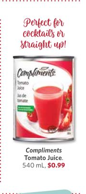 Compliments Tomato Juice - 540 mL