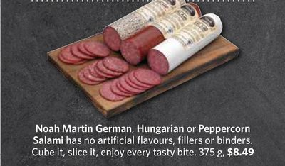Noah Martin German - Hungarian or Peppercorn Salami 375 g