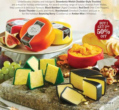 Snowdonia Welsh Cheddar-style Truckles - Black Bomber - Red Devil - Green Thunder - Beechwood - Bouncing Berry or Amber Mist
