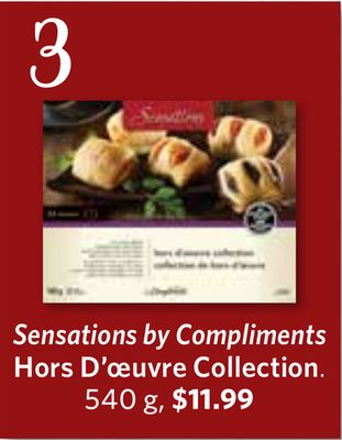 Sensations By Compliments Hors D'oeuvre Collection - 540 g