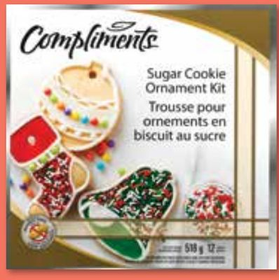 Compliments Sugar Cookie Ornament Kit or Gingerbread Boys Kit - 478-518 g