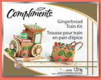 Compliments Gingerbread Train Kit - 1.22 Kg