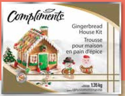 Compliments Gingerbread House Kit - 1.35 Kg