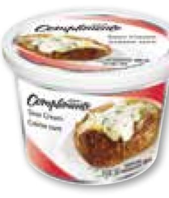 Compliments Sour Cream In Regular or Light - 500 mL