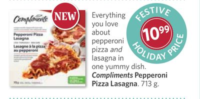 Compliments Pepperoni Pizza Lasagna - 713 g