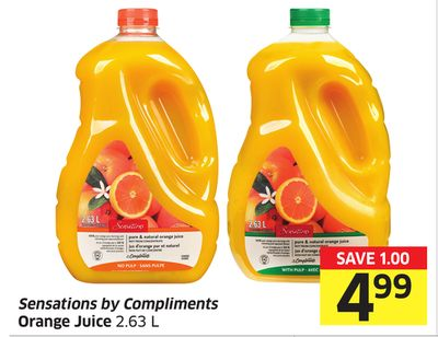 Sensations By Compliments Orange Juice 2.63 L