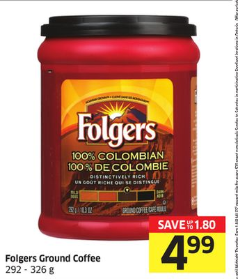 Folgers Ground Coffee 292 - 326 g