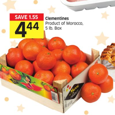 Clementines Product of Morocco - 5 Lb. Box