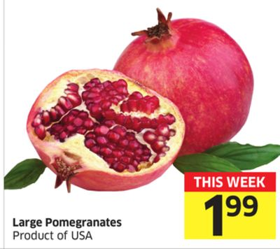 Large Pomegranates Product of USA