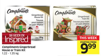 Compliments Gingerbread House or Train Kit 1.22 - 1.35 Kg