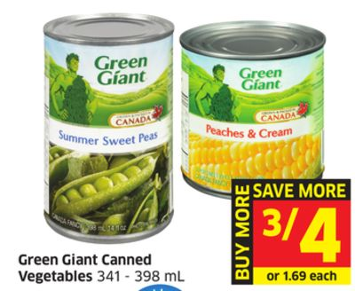Green Giant Canned Vegetables 341 - 398 mL
