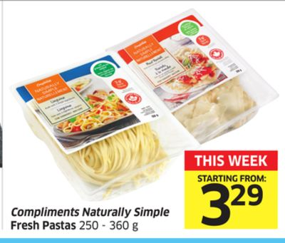 Compliments Naturally Simple Fresh Pastas 250 - 360 g