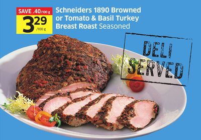 Schneiders 1890 Browned or Tomato & Basil Turkey Breast Roast Seasoned