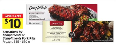 Sensations By Compliments or Compliments Pork Ribs Frozen - 535 - 680 g