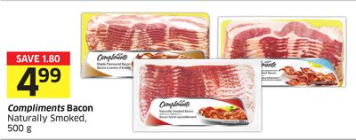 Compliments Bacon Naturally Smoked - 500 g