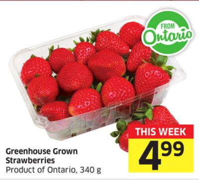 Greenhouse Grown Strawberries Product of Ontario - 340 g