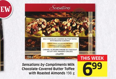 Sensations By Compliments Milk Chocolate-covered Butter Toffee With Roasted Almonds 198 g