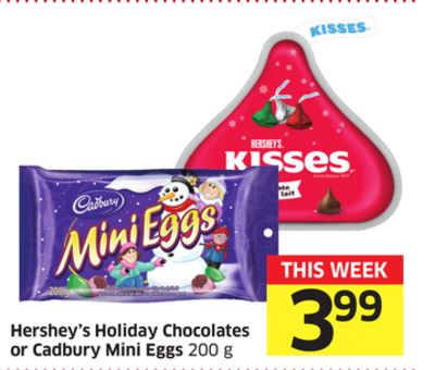 Hershey's Holiday Chocolates or Cadbury Mini Eggs