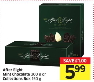 After Eight Mint Chocolate 300 g or Collections Box 150 g