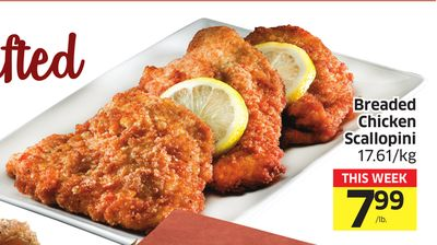 Breaded Chicken Scallopini 17.61/kg