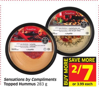 Sensations By Compliments Topped Hummus 283 g