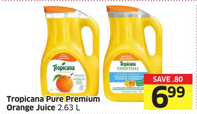 Tropicana Pure Premium Orange Juice 2.63 L