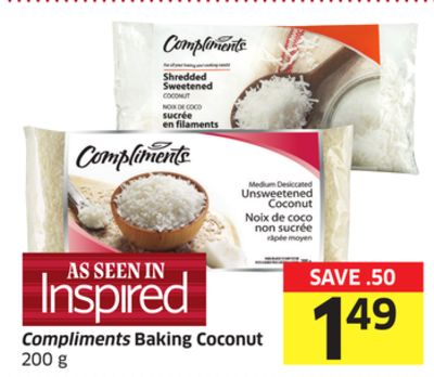 Compliments Baking Coconut