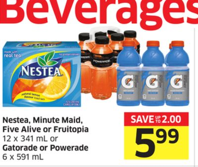 Nestea - Minute Maid - Five Alive or Fruitopia or Gatorade or Powerade