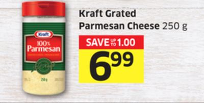Kraft Grated Parmesan Cheese 250 g