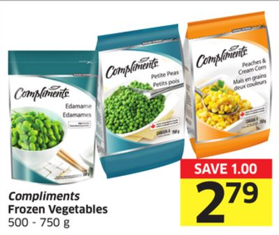 Compliments Frozen Vegetables 500 - 750 g