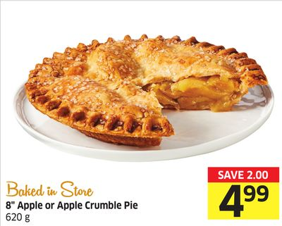 8'' Apple or Apple Crumble Pie 620 g