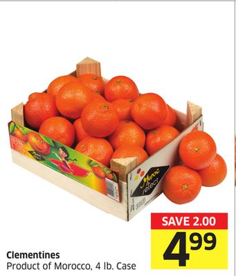 Clementines Product of Morocco - 4 Lb. Case